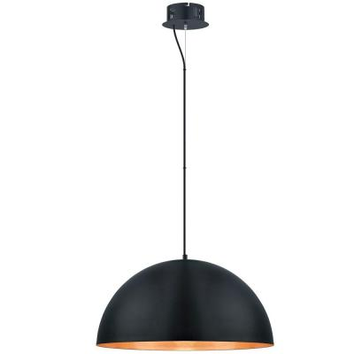 Gaetano 100-Watt Black Integrated LED Pendant