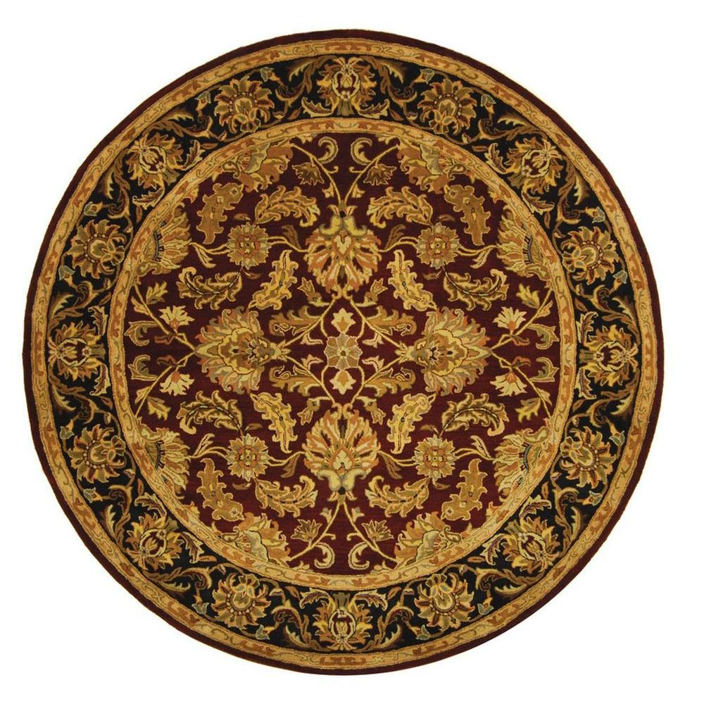 Heritage Red/Black 8 ft. x 8 ft. Round Area Rug