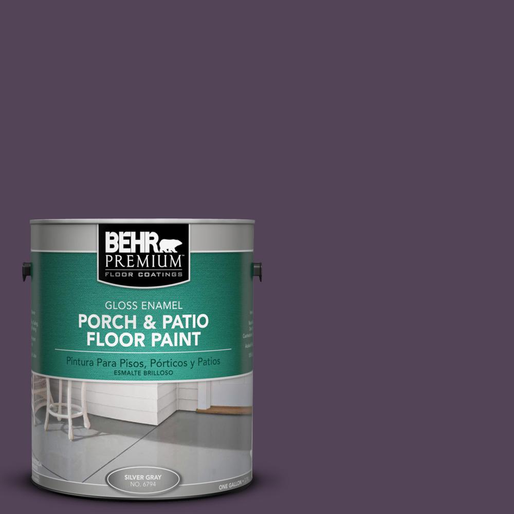 1 gal. #M100-7 Deep Merlot Gloss Porch and Patio Floor Paint