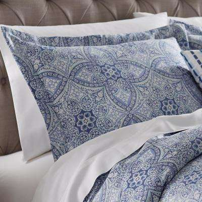 Alfresco Blue Cotton King Pillow Sham