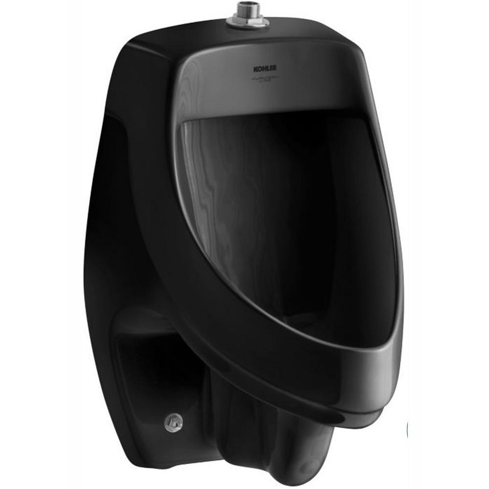 KOHLER Dexter 1.0 GPF Urinal with Top Spud in Black Black