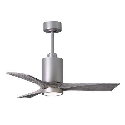 Patricia 42 in. LED Indoor/Outdoor Damp Brushed Nickel Ceiling Fan with Light with Remote Control, Wall Control