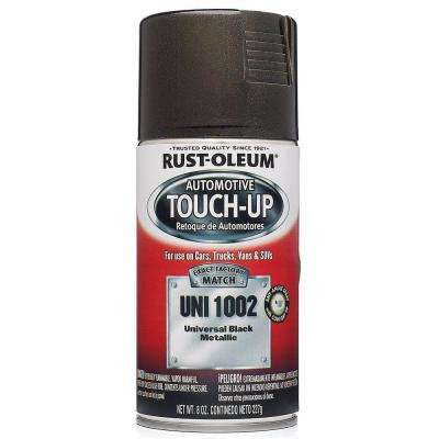 8 oz. Universal Black Metallic Touch-Up Spray Paint (6-Pack)