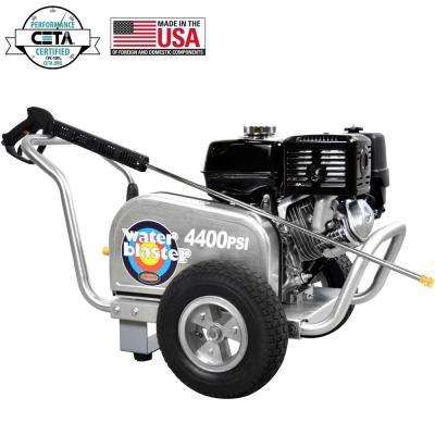 Aluminum WaterBlaster 4400 PSI at 4.0 GPM SIMPSON 420 with AAA Triplex Pump Industrial Gas Pressure Washer