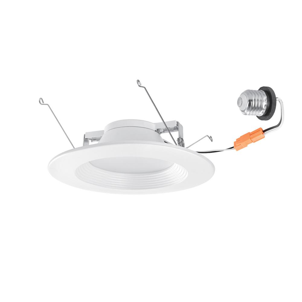 Globe Electric Retrofit 5 in. and 6 in. White Integrated LED Recessed Retrofit Trim