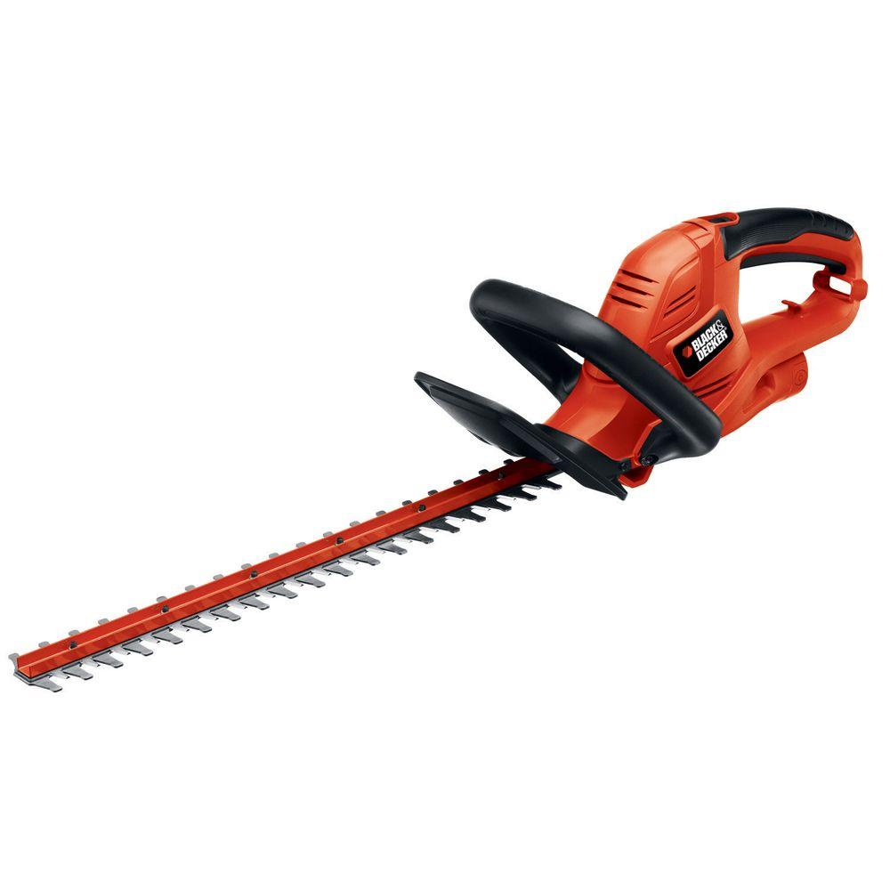 BLACK+DECKER 20 in  3 8 Amp Corded Electric Hedge Trimmer