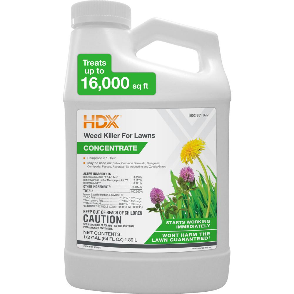 HDX 64 oz. Weed Killer for Lawns-77800 - The Home Depot