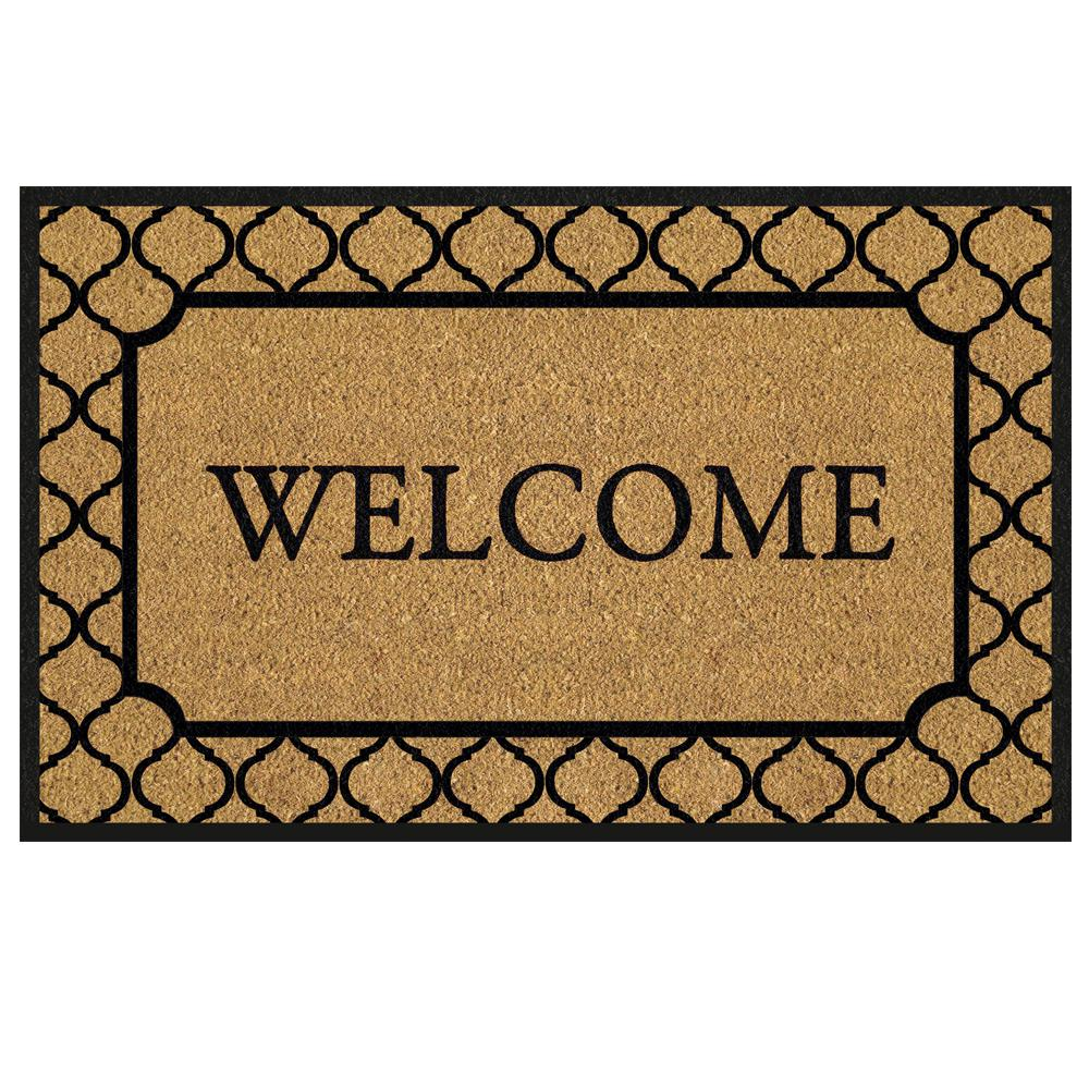 TrafficMASTER Welcome Tile Border 18 in. x 30 in. Coir ...