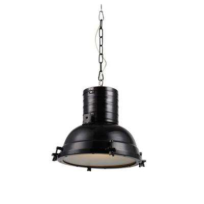 Industrial 1-Light Black Pendant