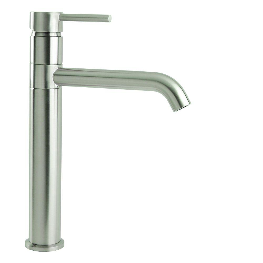 Single Hole Single-Handle Swivel Arm Euro Vessel Bathroom Faucet in ...