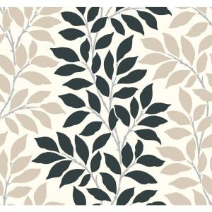 York Wallcoverings Leaf Stripe Wallpaper by York Wallcoverings