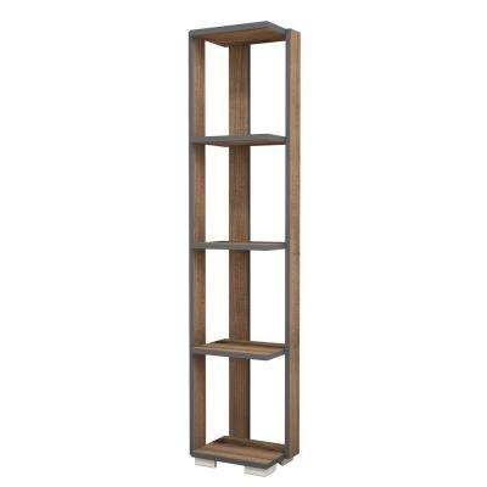 Salem Walnut Modern Bookcase