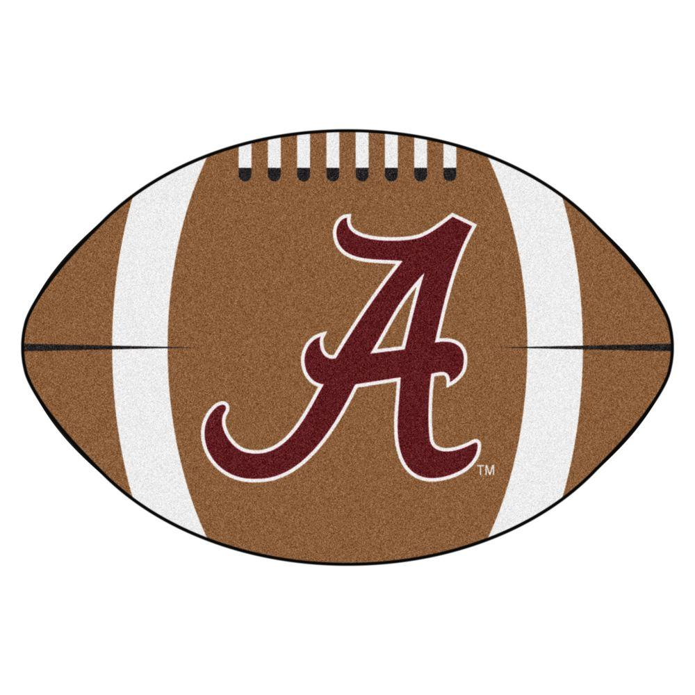 Fanmats Ncaa University Of Alabama Bama Logo Brown 1 Ft