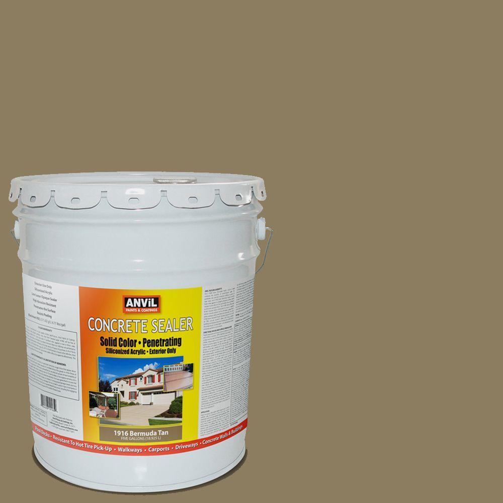 ANViL 5-gal. Bermuda Tan Siliconized Acrylic Solid Color Exterior Concrete Sealer-DISCONTINUED
