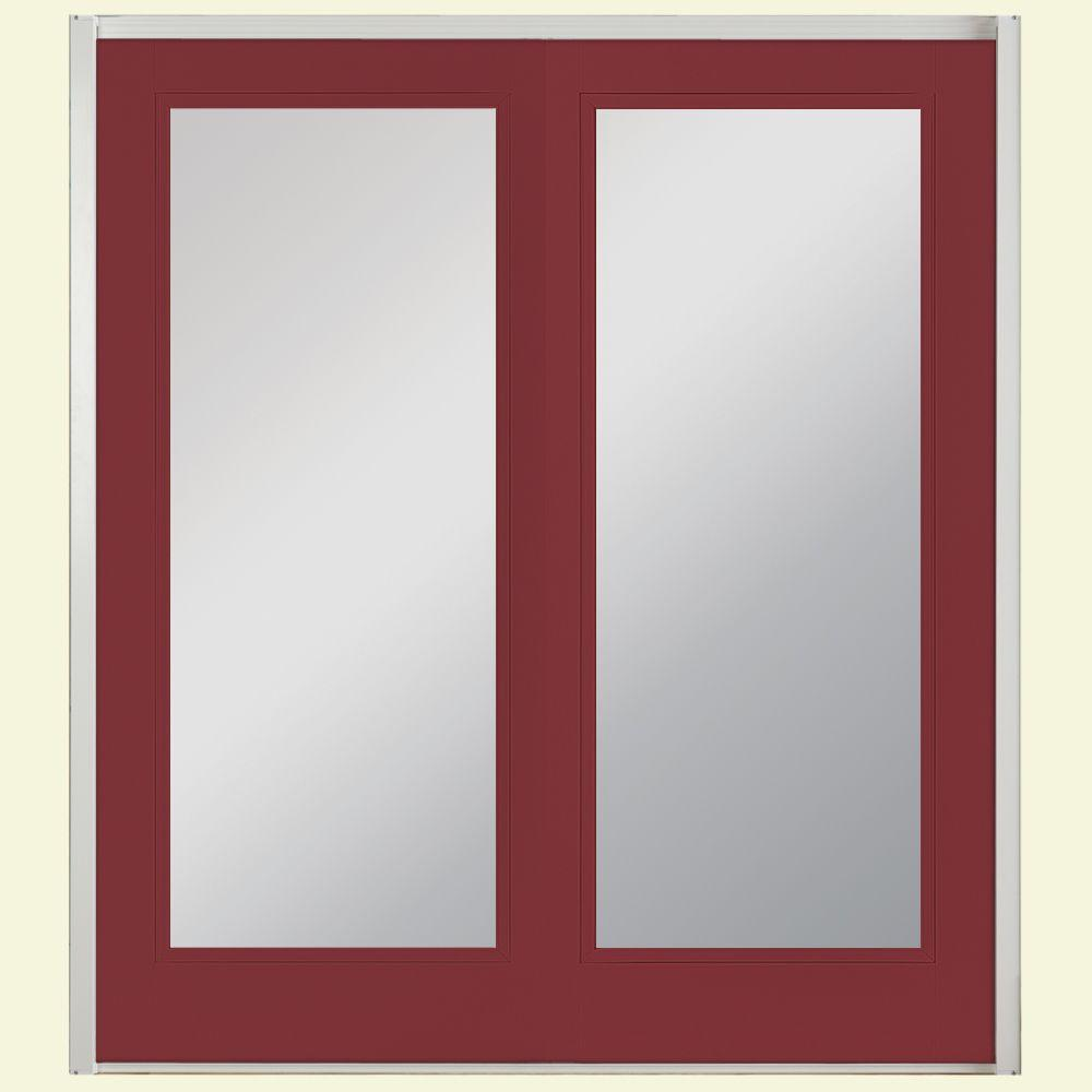 Masonite 72 in. x 80 in. Red Bluff Prehung Right-Hand Inswing Full Lite Steel Patio Door with No Brickmold