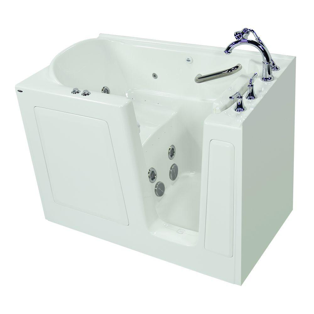 Exclusive Series 51 in. x 31 in. Walk-In Whirlpool and Air