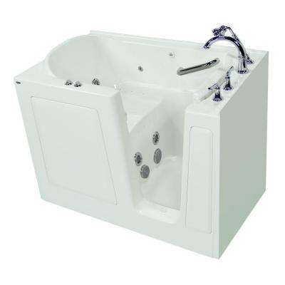 Exclusive Series 51 in. x 31 in. Walk-In Whirlpool and Air Bath Tub with Quick Drain in White