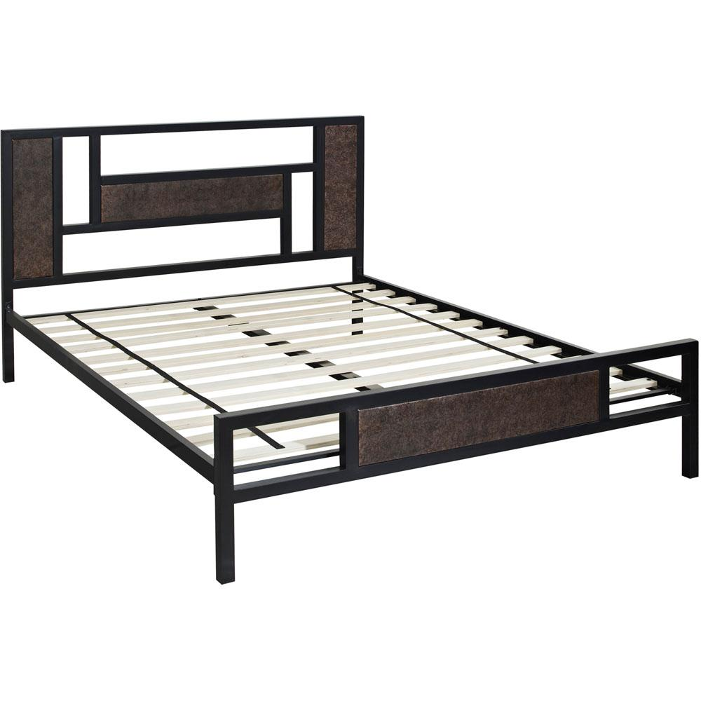 hanover hyde park metal queen platform bed hbedhyde qn the home depot. Black Bedroom Furniture Sets. Home Design Ideas