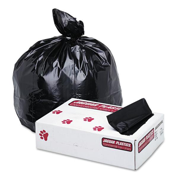 60 Gal. Black Low-Density Commercial Can Liner (100/Carton)