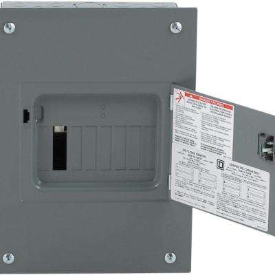 QO 100 Amp 8-Space 16-Circuit Indoor Flush Mount Main Lug Load Center with Cover and Door