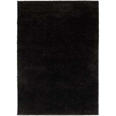 Posh Shag Black 7 ft. x 9 ft. Area Rug
