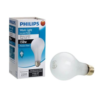 150-Watt A21 Shatter Resistant Dimmable Incandescent Rough Service Work Light Bulb Soft White (2700K)