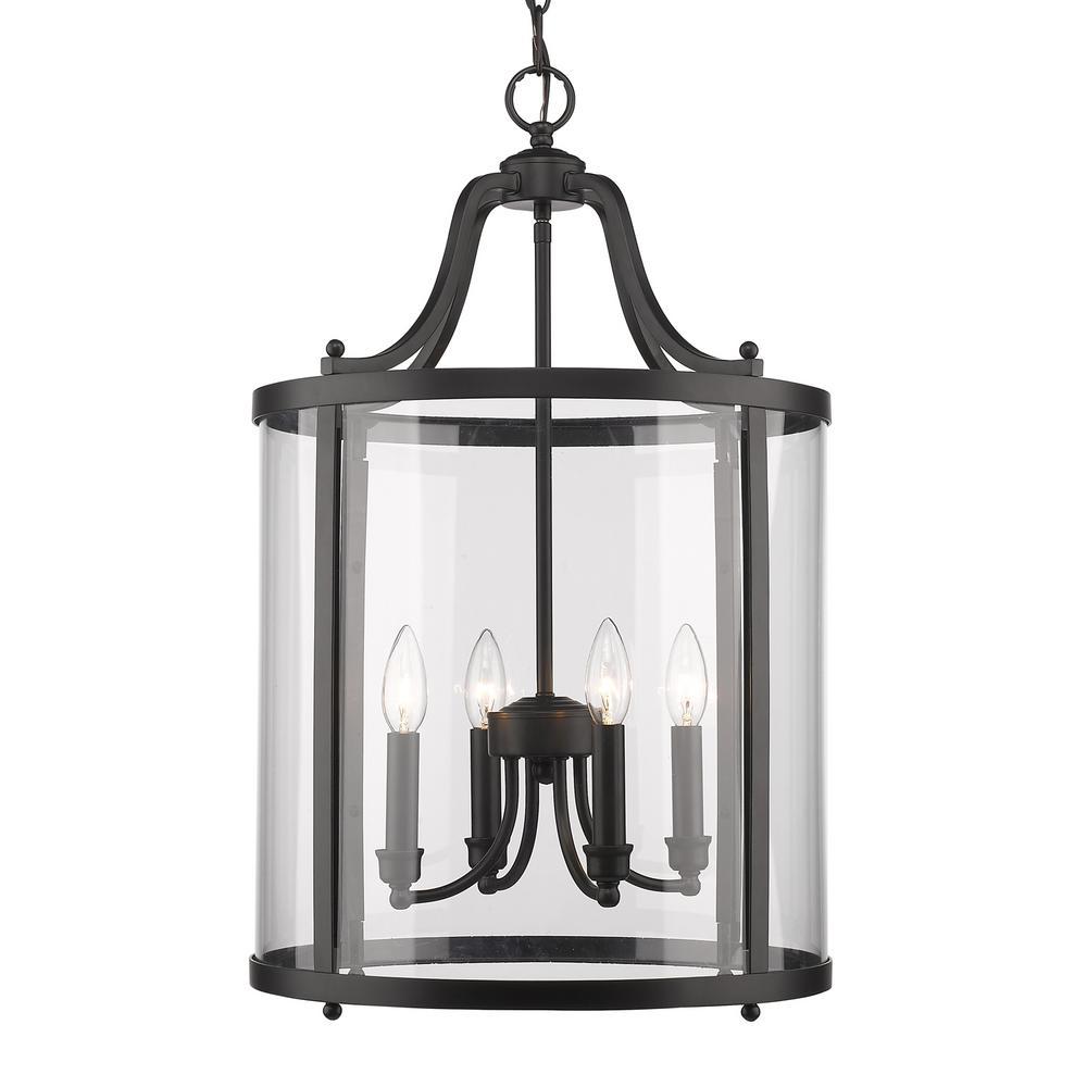 Payton 4-Light Black Pendant