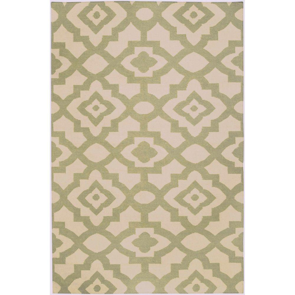 Candice Olson Cream 5 ft. x 8 ft. Flatweave Area Rug