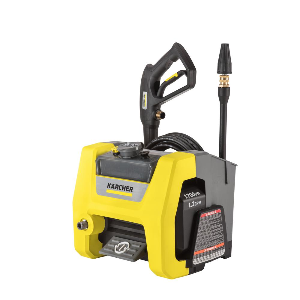 karcher k1710 cube 1700 psi 1 2 gpm electric pressure. Black Bedroom Furniture Sets. Home Design Ideas