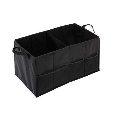2-Compartment Black Folding Trunk Small Parts Organizer