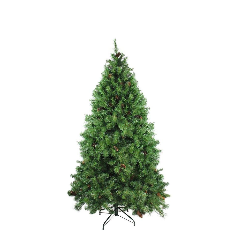 Artificial Christmas Tree With Pine Cones: Northlight 6.5 Ft. X 50 In. Dakota Red Pine Full