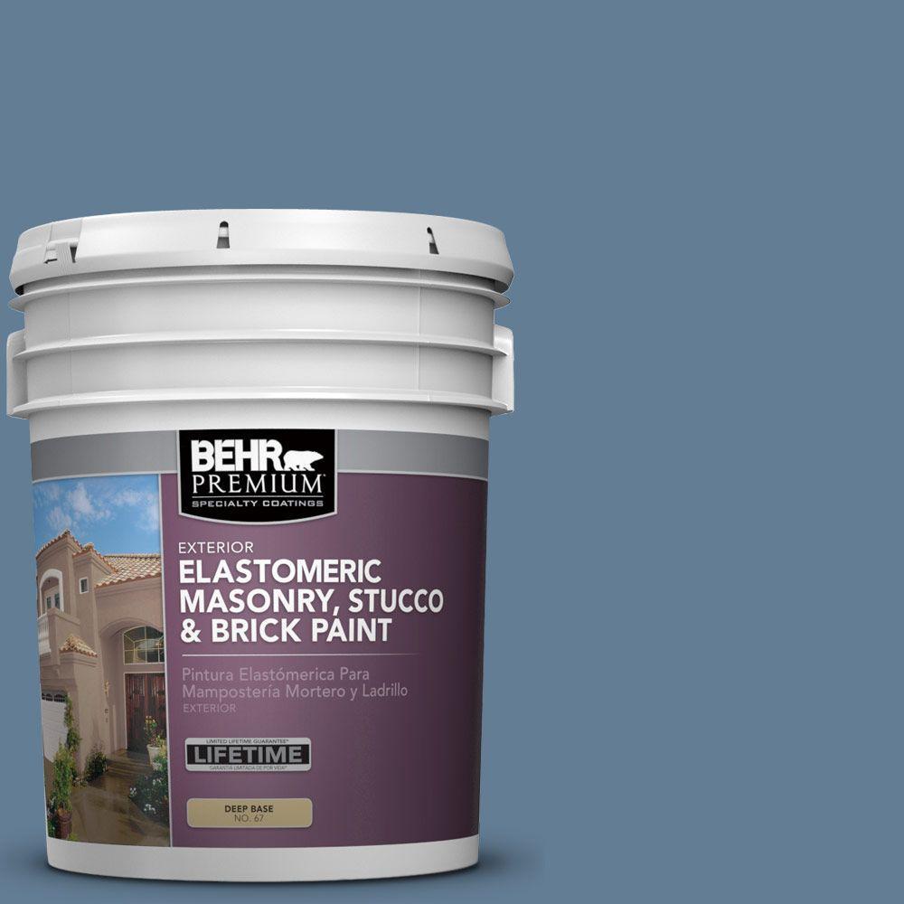 5 gal. #MS-78 Bleached Denim Elastomeric Masonry, Stucco and Brick Exterior Paint