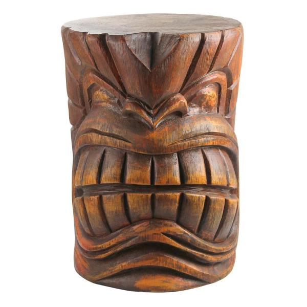 The Kanaloa (Teeth) Grand Tiki 20.5 in. H Sculptural Polyresin Outdoor Side Table