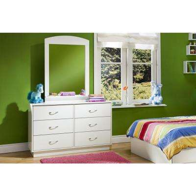Logik 6-Drawer Pure White Dresser