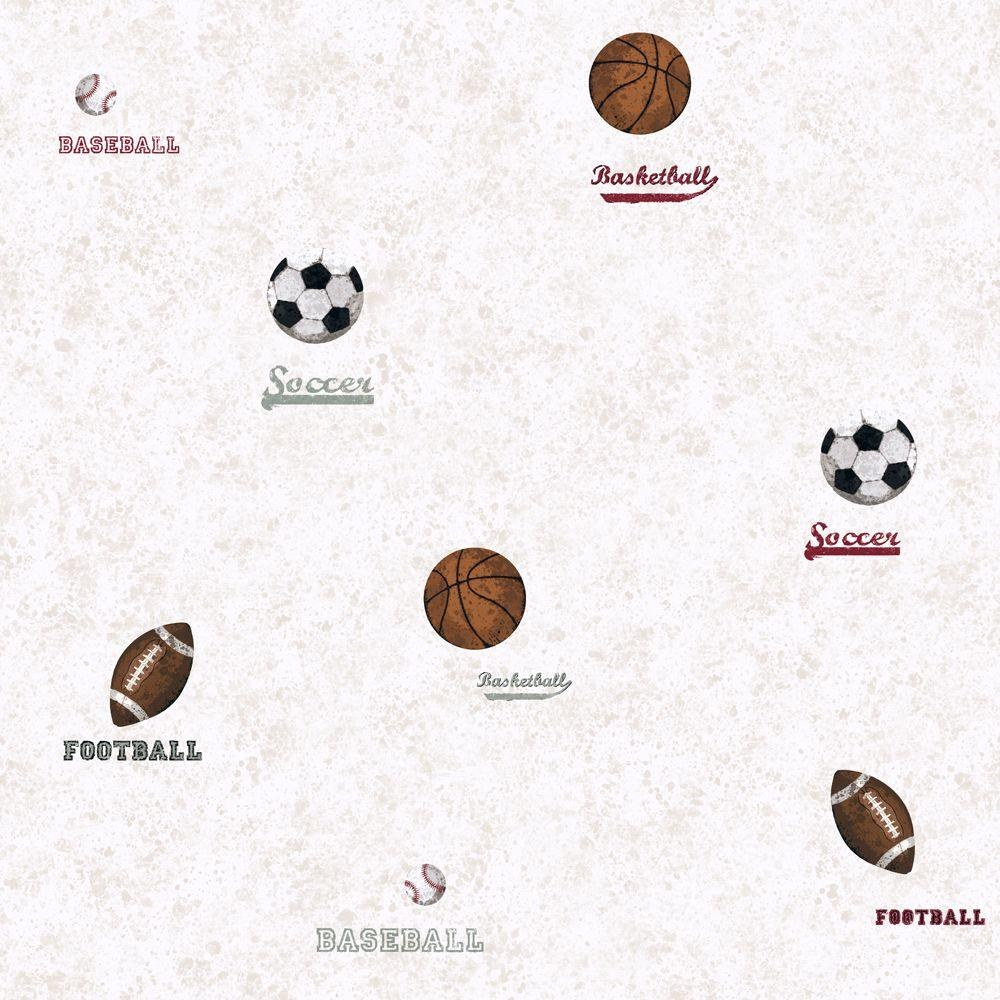 York Wallcoverings 56 sq. ft. Sports Ball Sport Wallpaper-DISCONTINUED