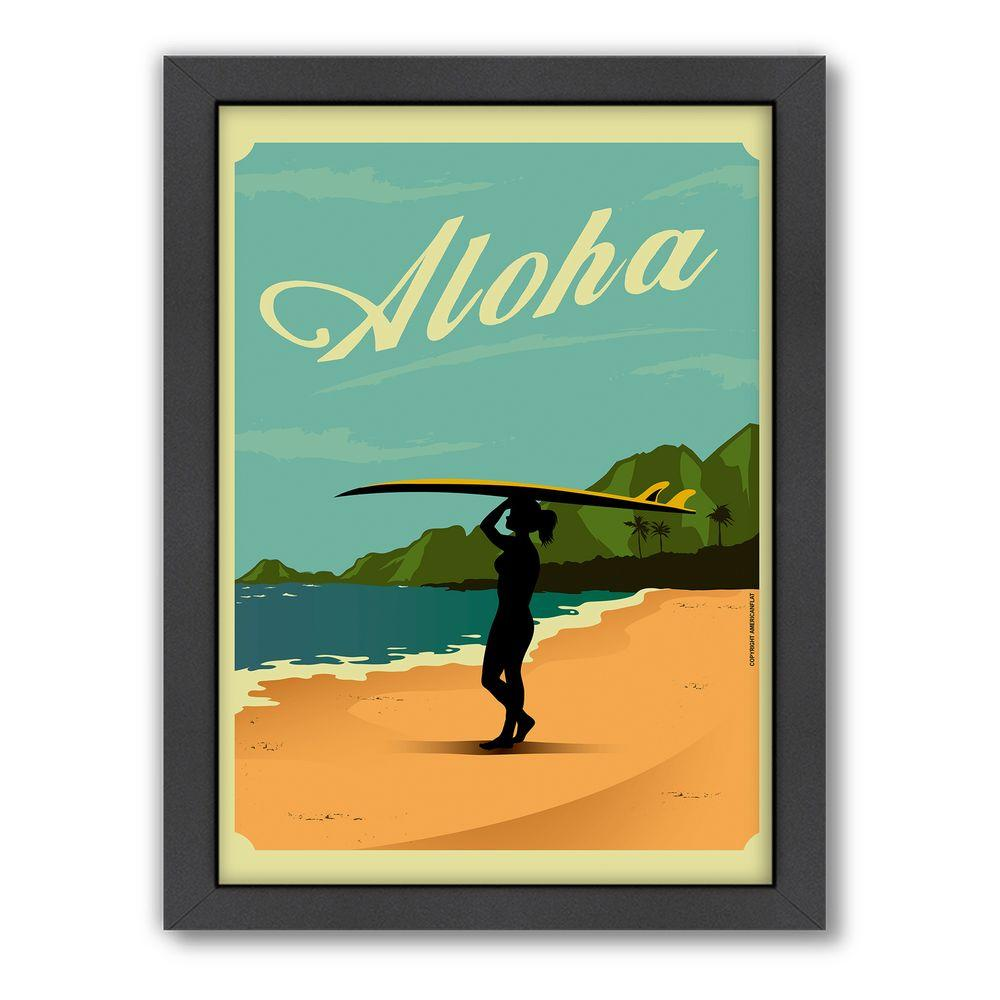 """Americanflat 27 in. x 21 in. """"Aloha"""" by Diego Patino Framed Wall Art"""