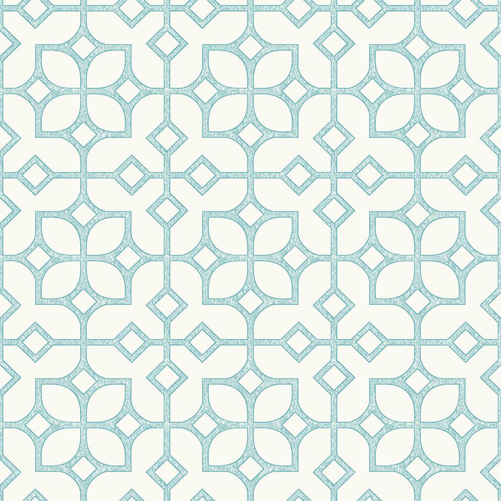 A Street Maze Turquoise Tile Wallpaper Sample 2697 78025sam The Home Depot