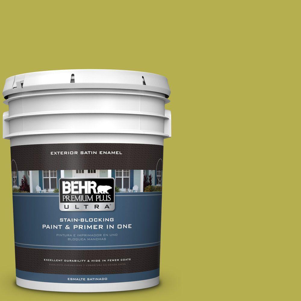 BEHR Premium Plus Ultra 5-gal. #P350-6 Laser Satin Enamel Exterior Paint