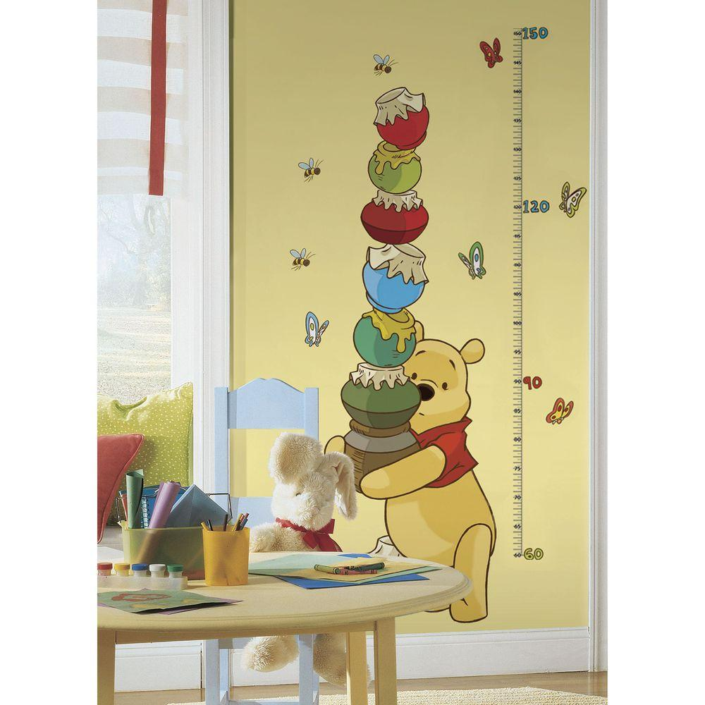 RoomMates 5 in. x 19 in. Winnie the Pooh - Pooh and Friends Peel and ...