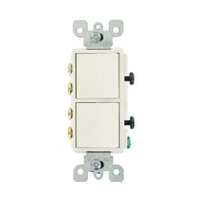 Decora 15 Amp 120-Volt 3-Way Combination Rocker Switch, White