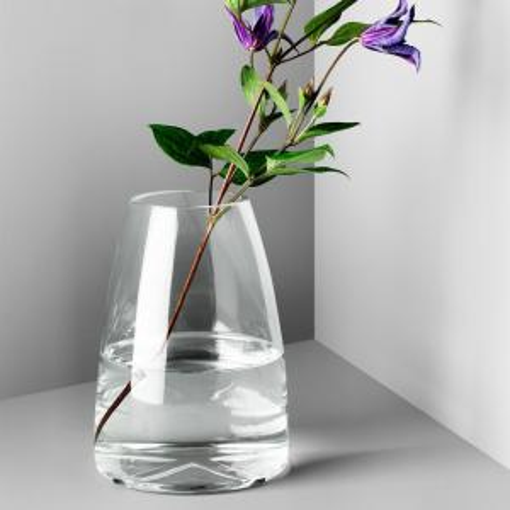 Bruk 7.7 in. Clear Glass Decorative Vase