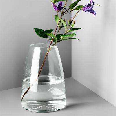 Bruk 7.7 in. Clear Glass Decorative Vase