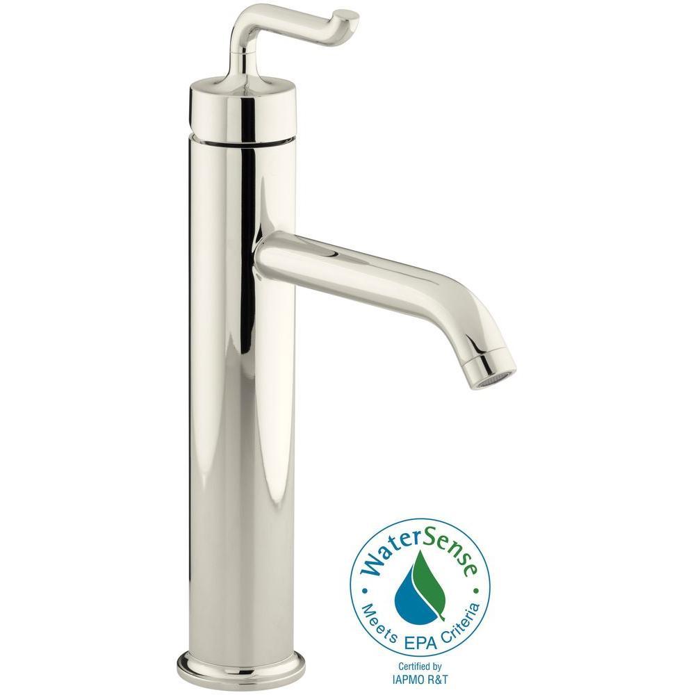 KOHLER Purist SingleHandle Kitchen Vessel Sink Faucet In Vibrant - Kohler purist bathroom sink