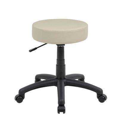 23 in. Beige Vinyl Dot Stool