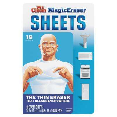 Thin Sheets Magic Eraser Cleaning Wipes (16-Count, 8-Pack)
