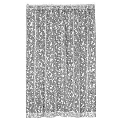 Bristol Garden White Lace Curtain 60 in. W x 84 in. L