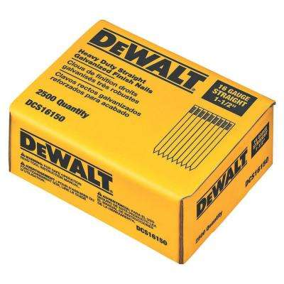 1-1/2 in. 16-Gauge Straight Nails (2500 per Box)