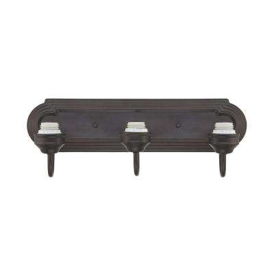 3-Light Oil Rubbed Bronze Wall Fixture