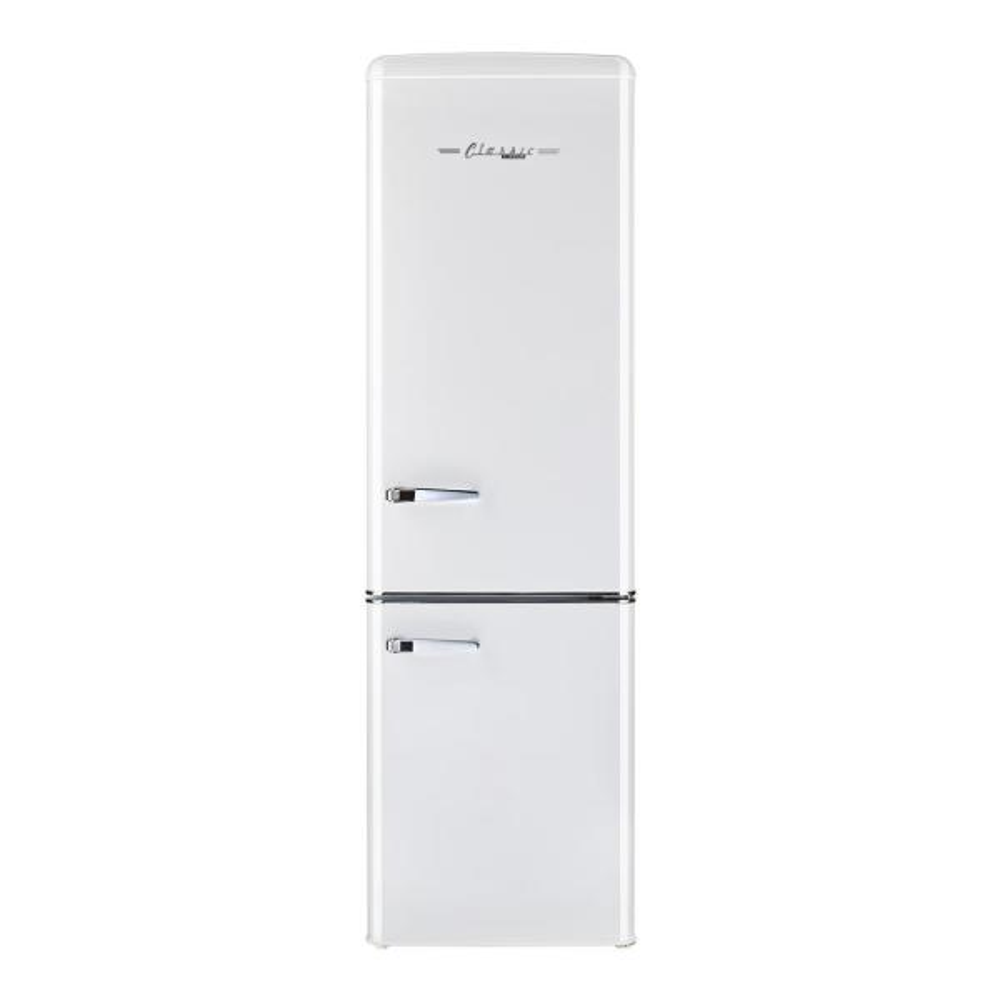 Retro 21.6 in. 9 cu. ft. Bottom Freezer Refrigerator in Marshmallow White, ENERGY STAR