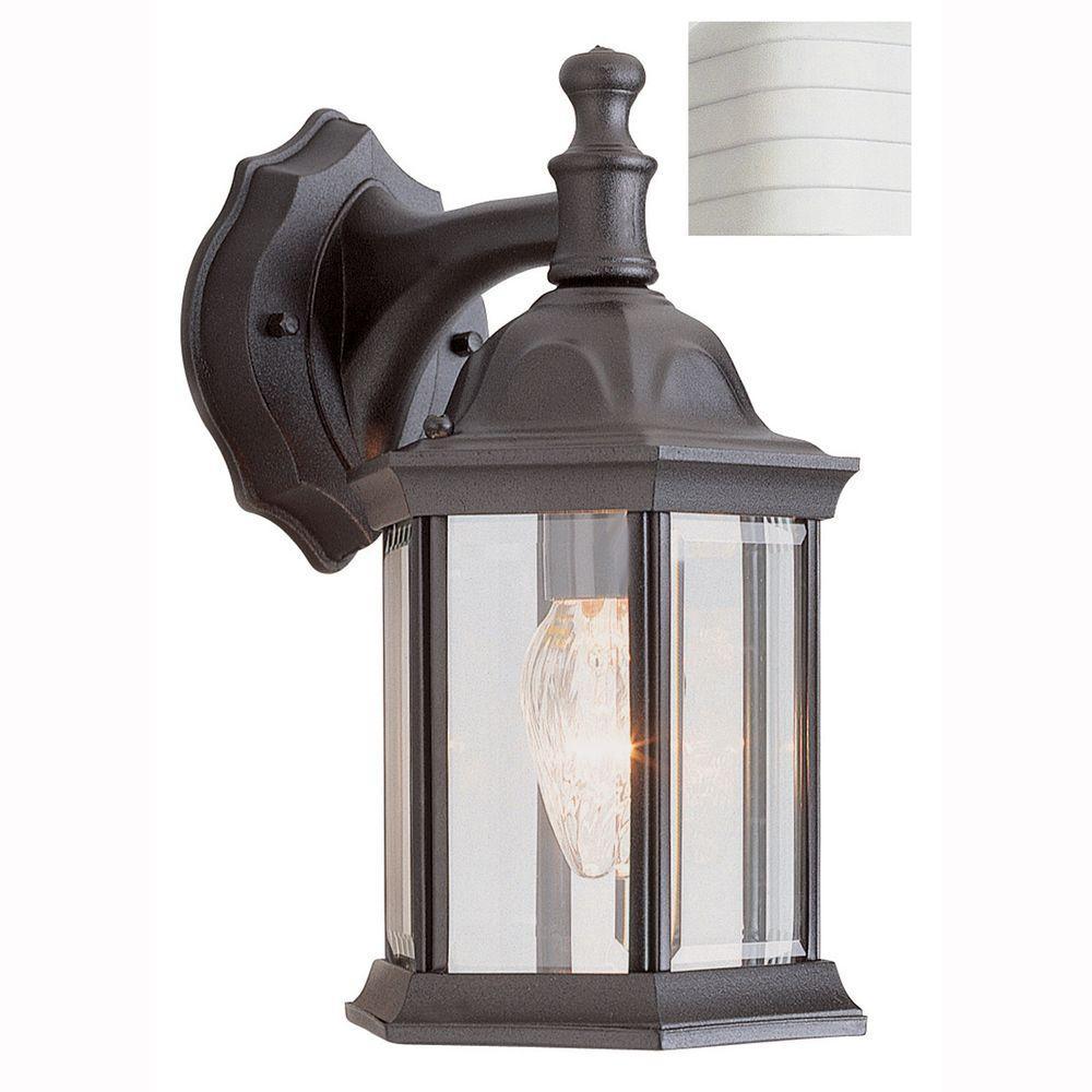 Cumberland 1-Light White Outdoor Wall Mount Lantern